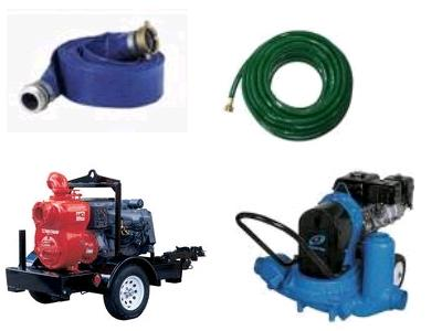 Rent pump and hose